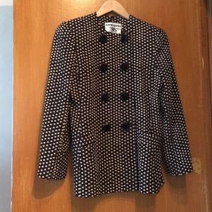David Hayes for Sals Fifth Avenue Polka Dot Blazer